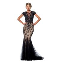 Vestido Fiesta Noche Alta Costura Terani Talla 12 $1100 Dlls