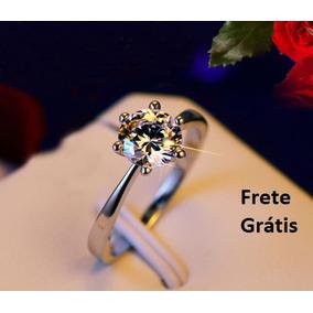 Anel Solitario Grosso De Prata - Anéis com o melhor preço no Mercado ... a57b75cb39