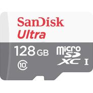 Memoria Sandisk Micro Sd 128gb Clase 10 80mb/s
