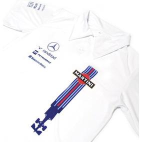 Camisa Polo Dry Fit - Estampa Williams Martini F1 - Es142