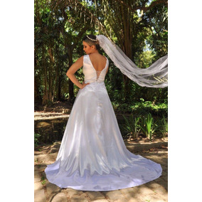 Vestido Noiva Lindo E Elegante Partylight Atelier + Brinde
