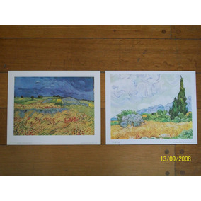 2 Láminas Importadas 24 X 30 Cm C/u Van Gogh Liquido