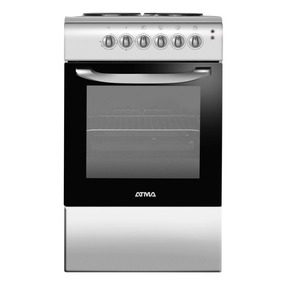 Cocina Atma 50 Cm Cce3110p Electrica Plata