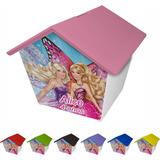 Casinha Cofre Personalizada Barbie 30 Unid Cod 07
