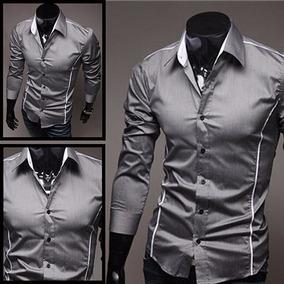 Camisa Social Slim Fit Blusa De Luxo Fino .