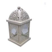 Fanal Farol Grande Crema Con Vidrios Transparentes Ec 3058