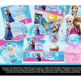 Kit Imprimible Frozen Anna Elsa Etiquetas Candy Mesa Postres