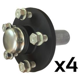 Cubo De Roda Com Eixo Para Reboque/carretinha - 5x100 (4pçs)