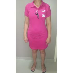 Vestido Pink Gola Polo Feminino Super Oferta