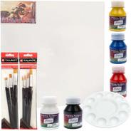 Kit De Pintura Acrílica X 9 Piezas