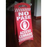 Aviso De Seguridad Piso Mojado O No Pase Para Mantenimiento