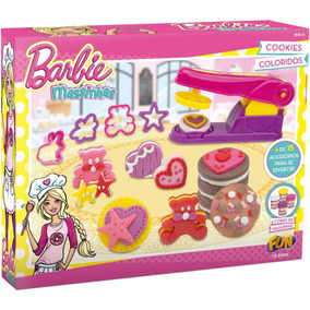 Kit Massa De Modelar Cookies Barbie 7619-0 Fun