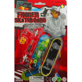 Kit 2 Skate Dedo Luminoso Led Fingerboard Brinquedo Oferta