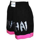 Short Torah Muay Thai Feminino - Preto E Pink - P