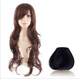 * Peluca 60cm Negro Color Pelo Liso Natural !