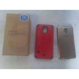 Teléfono Samsung Galaxy S5 Edición Especial Dorado.