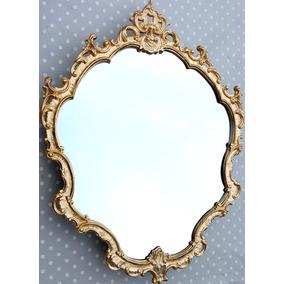 Espelho Decorativo Barrock Veneziano Dourado 54,5 X 37,5cm.