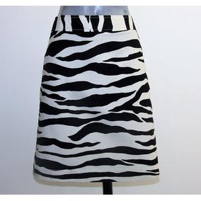 Merona Falda Estampado Zebra Talla 32 Tela Stretch