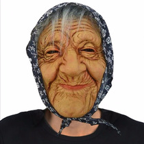 Mascaras Latex Premium Mascara Abuelita Con Pañuelo