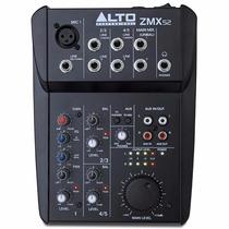 Mesa De Som Mixer Digital Alto Zmx-52 - Hendrix