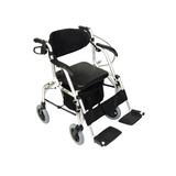 Andador Praxis 4 Rodas Em Aluminio 2x1 Vira Cadeira Rodas