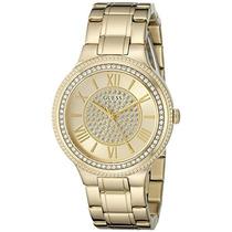 Guess Mujer U0637l2 Noche Elegante Dorado Del Reloj Con Esf