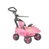 Carro Infantil Smart Baby Reclinável Bandeirante - Rosa