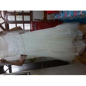 Vestido De Casamento Longo Renda E Seda