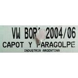 Máscara Cubre Trompa Capot Y Paragolpe. Vw Bora 04