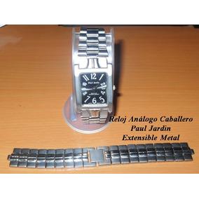 Reloj Caballero Analogo Paul Jardin Extensible Metal Usado