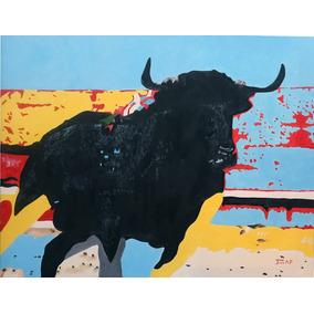 Pintura, Oleo, arte, Moderno, Abstracto, Toro, Animal