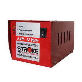 Carregador De Bateria Stroke Power 5ah 12v Moto Carro