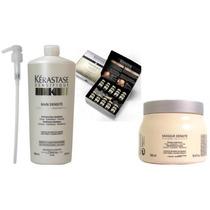 Kérastase Densifique - Shampoo 01lt/máscara 500ml/cx 30 Amp