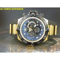 Relógio Invicta Subaqua Cronógrafo Plaque Ouro 6583