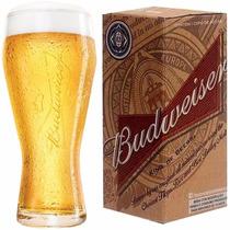 Copo Oficial Budweiser 400 Ml Cerveja Taça + Caixa Original