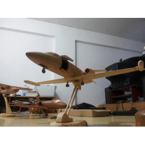 Maqueta Aeromodelismo Escala Avión-helicóptero Madera 40cm