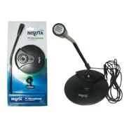 Micrófono Omnidireccional Nisuta Nsmic130 Pc 3.5mm Con Pie