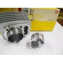 Kit Do Motor Cilindro/pistão/anéis Cbx/nx 200cc Strada