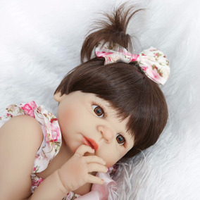 Bebe Reborn Menina 100% Silicone 55 Cm - Produto No Brasil