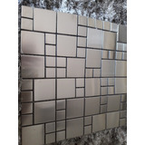 Pastilha Aço Inox Escovado 30x30 Mosaico Caixa Com 11 Placa