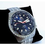 Relógio Orient Automático Gmt 469ss057f Original Nf Garantia