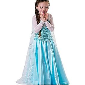 Disfraz Fe1 Disney Frozen Inspirado Elsa Traje Chica Vestid