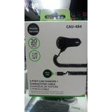 Cargador P/ Auto De 2 Usb + Cable A Micro Usb Cau-484 1.2m