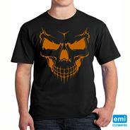 Camiseta Halloween Caveira