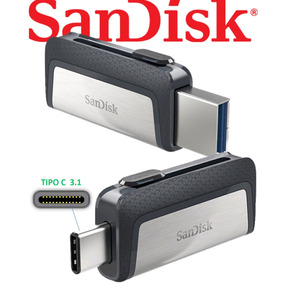 Pendrive Memoria Sandisk 128gb Tipo C 150mb/s Usb 3.1
