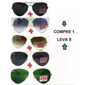 34adc96285763 Óculos De Sol Pague 1 Leve 5 Érika Justin Aviador Promoção