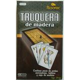 Truquera Caja Madera Mazo De Naipes Marcadores Tablero