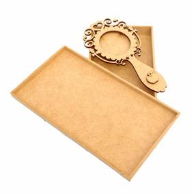 Caixa Com Espelho Branca De Neve Mdf Cru Lembrancinhas R60