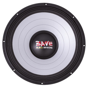 Bravox Rave 18 Polegadas Woofer 1100wrms 4ohms Trio Som Sub