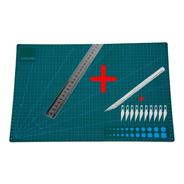 Base Tabla Tablero  D/ Corte A3  45 X 30 Cm + Regla Bisturi